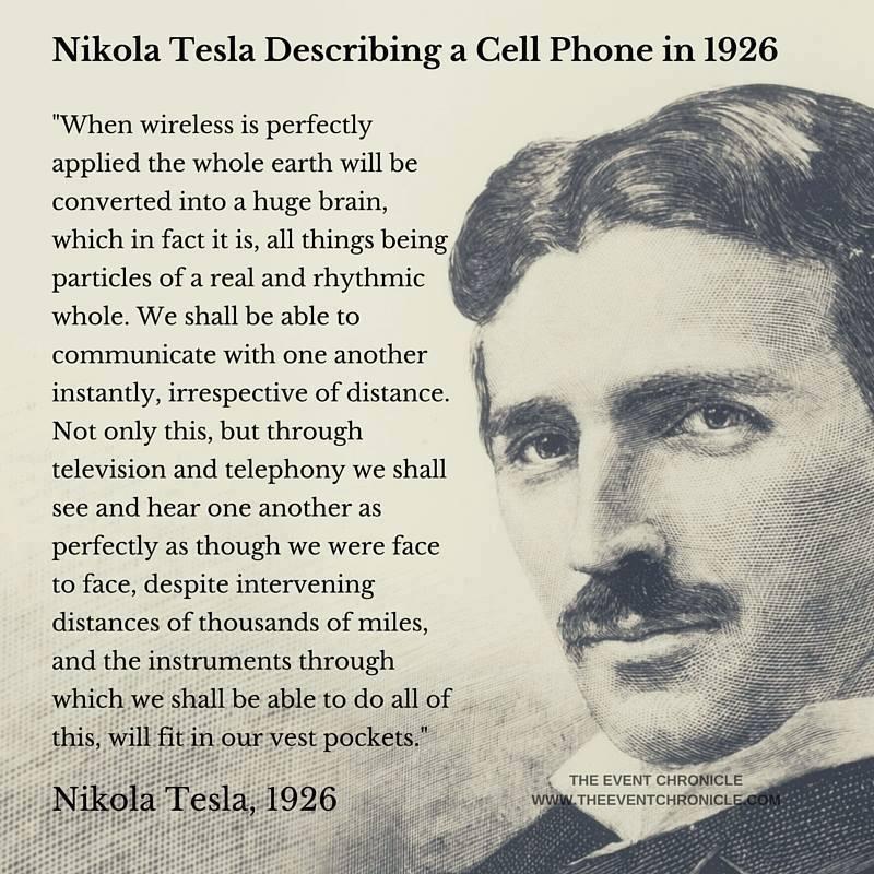 Nikola Tesla Describe Cell Phone Wireless Communications In 1926 Nikola Tesla Tesla Quotes Tesla