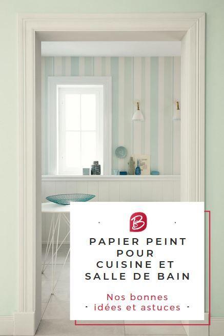 Papier peint pour cuisine et salle de bain : adieu le carrelage !