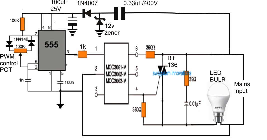 Dimmer Circuit for LED Bulbs Eletronica in 2019 Led