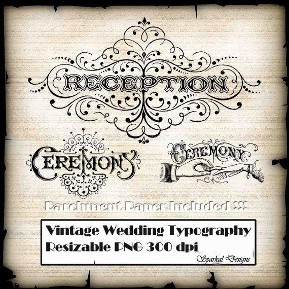 Wedding Signs PhotoShop Brushes Printable Wedding