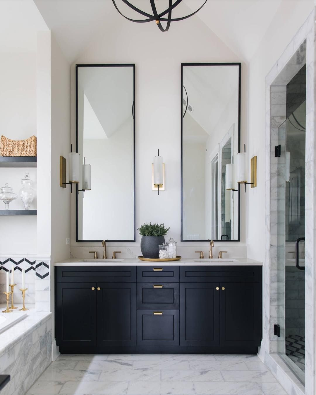Coastal Interiors With Anneke On Instagram Well Hello There Statement Mirrors This Is A Great Ex Painted Vanity Bathroom Bathroom Design Bathroom Interior