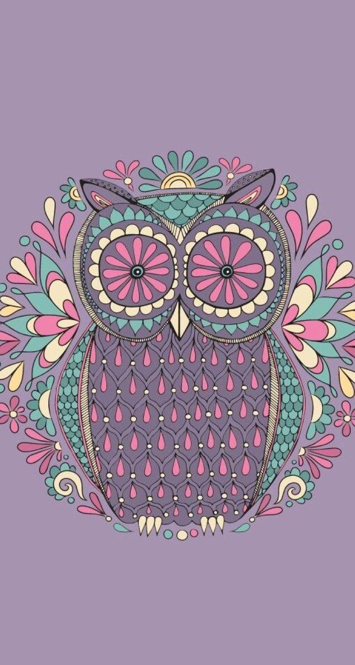 Owl Mandala Con Imagenes Fondo De Pantalla De Buho Mandala
