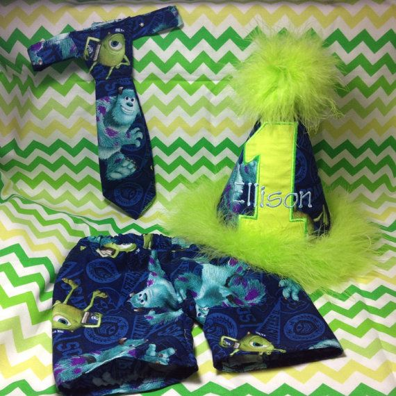Monsters Inc Smash Cake Outfit Boys Set Girls By