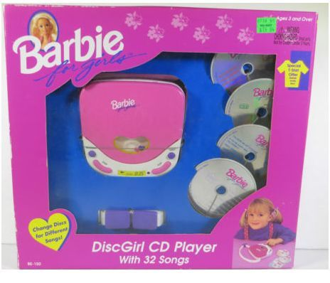 1995 Barbie DiscGirl Cd Player...i still have this!!!