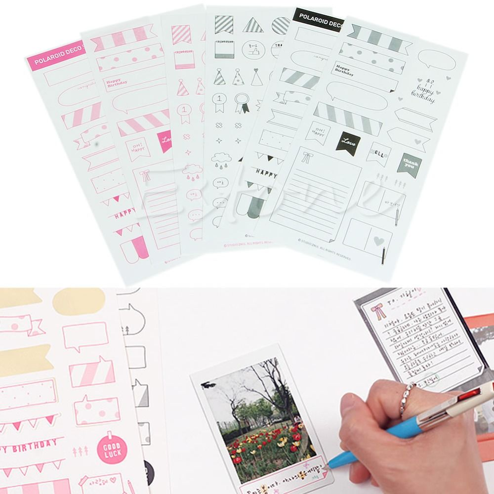 New 6 Folhas Diy Foto Adesivo De Papel Calendario Planejador Diario Recados Decoracao Diy Calendar Paper Diy Calendar Planner Scrapbook