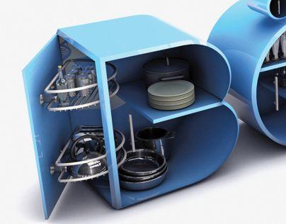 3D Design (Typographic kitchen)