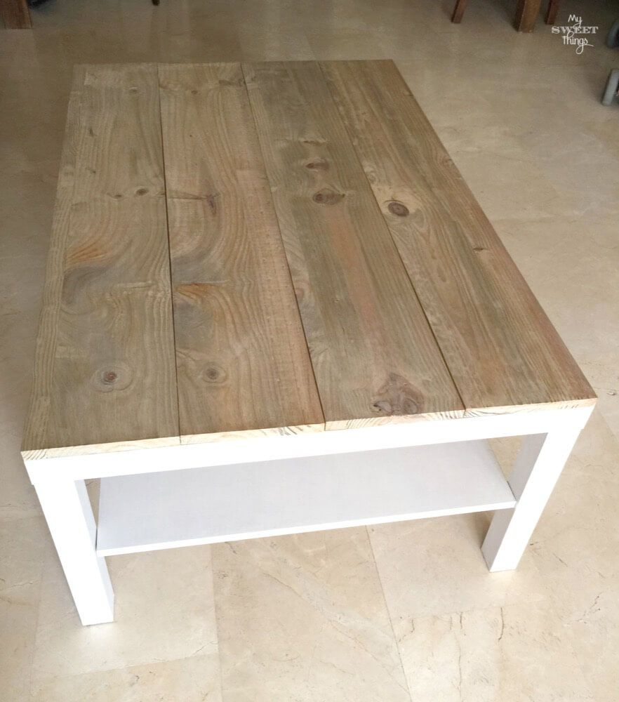 Tuneo de una mesa de centro Ikea Lack | Ikea, Tinta y Centro