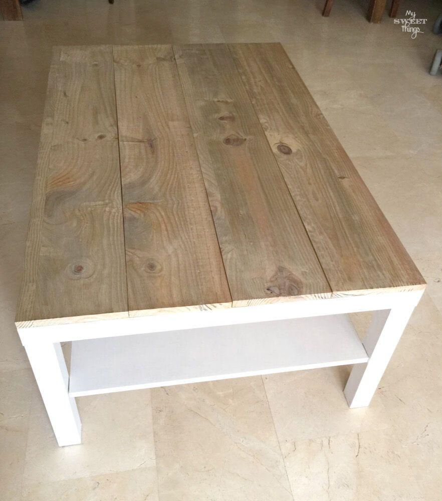 Tuneo de una mesa de centro ikea lack restauracion for Mesas de centro salon ikea