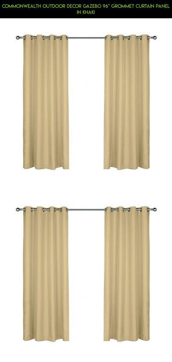 Commonwealth Outdoor Decor Gazebo 96 Grommet Curtain Panel In Khaki Kit Curtains
