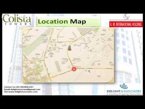 Colista Tower Near Vaishali Metro Station Ghaziabad 2 3 4 Bhk Apartment Call 9910061017 Youtube Metro Station Tower Location Map