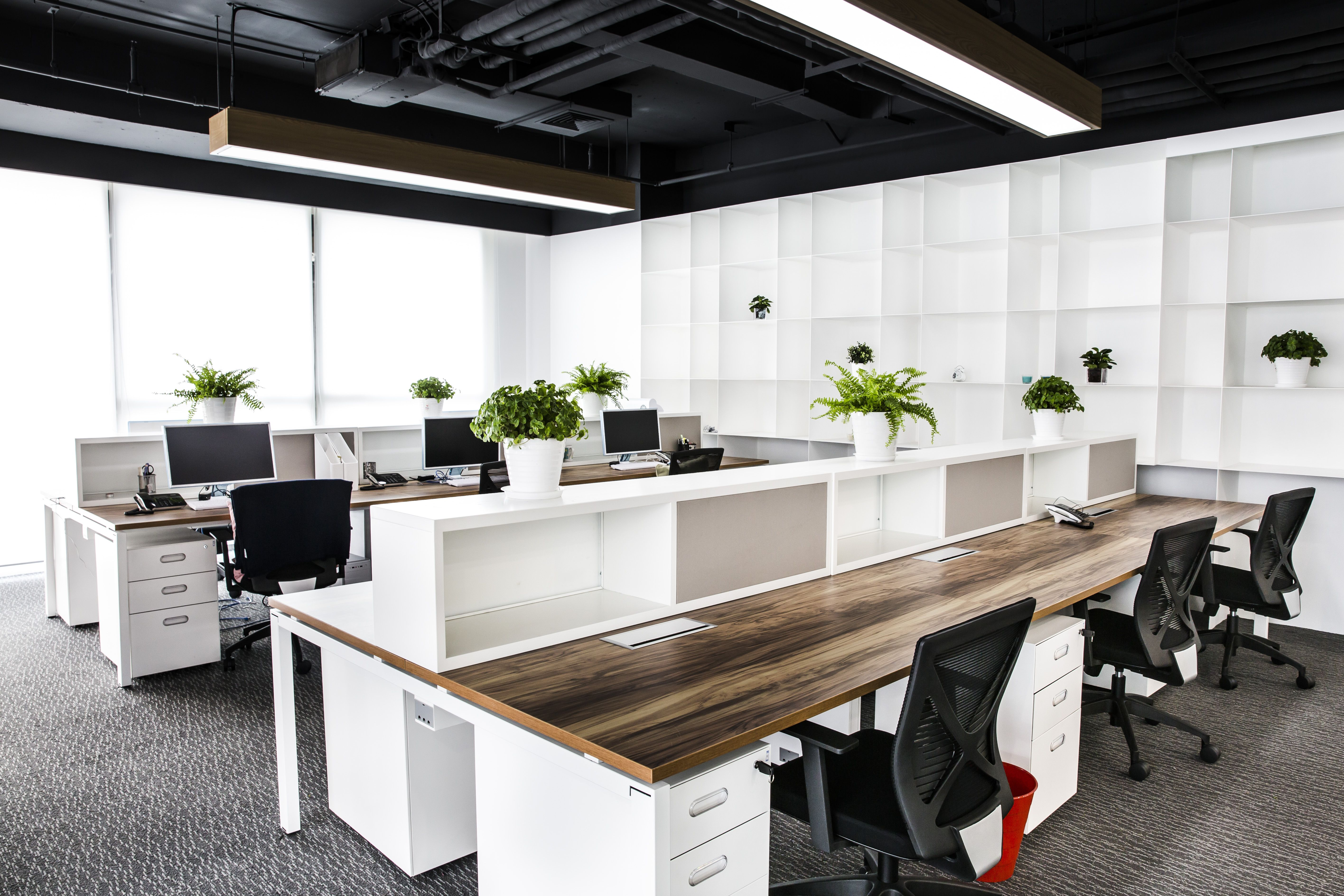 Stellar Mega Films workers station | Open office design ...