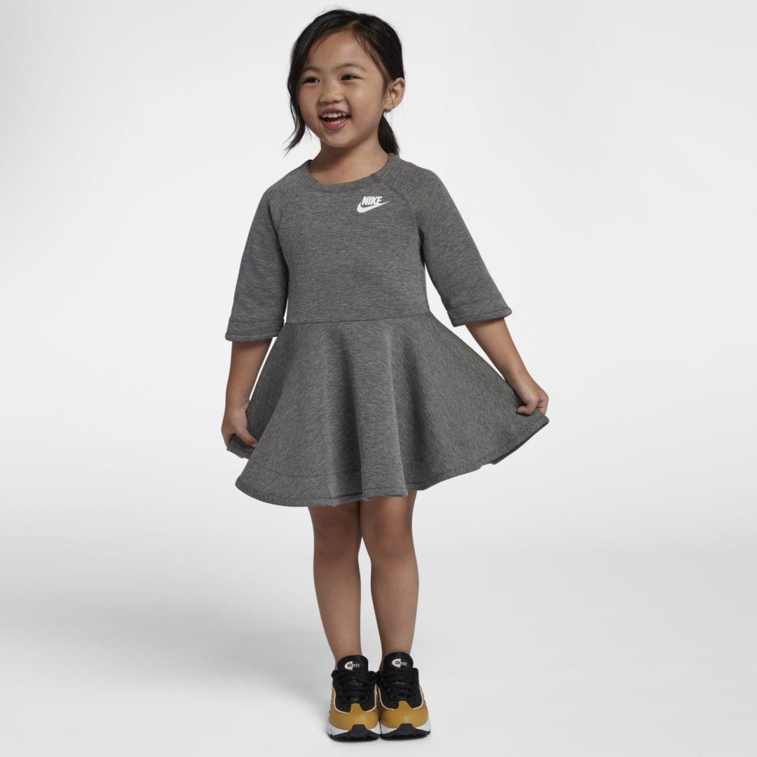Nike Tech Fleece Infant Toddler Girls Dress Size 4t Carbon Heather Kids Outfits Nike Dresses Toddler Dress [ 1080 x 1080 Pixel ]