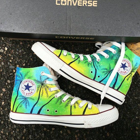 a289a58033dc Custom Tropical Painted Converse