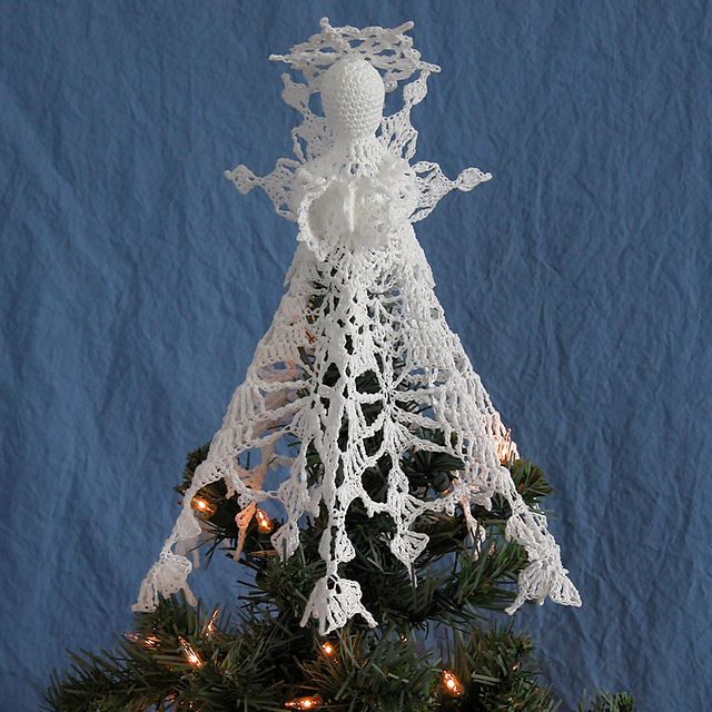 Crochet Angel Baptism Gift Christmas Lace Angel Ornament Tree: Snowflake Angel Tree Topper Pattern By Kathryn A. Clark