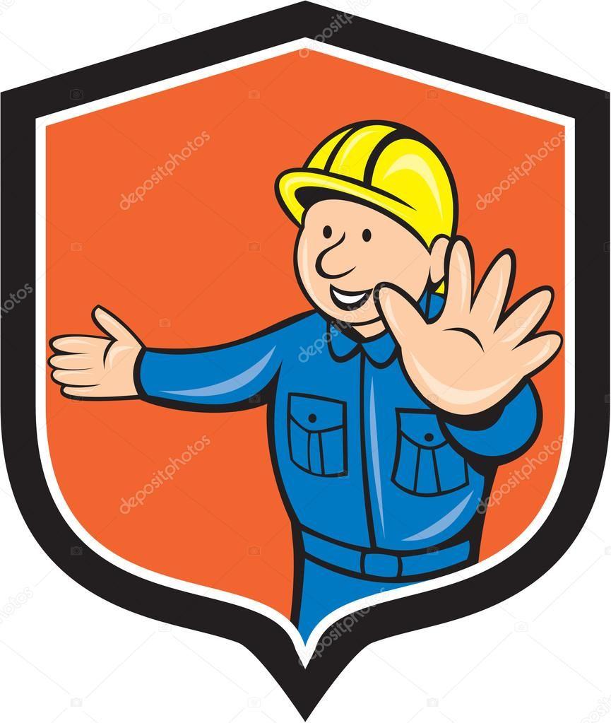Ilustración de un carpintero constructor construcción trabajador ...
