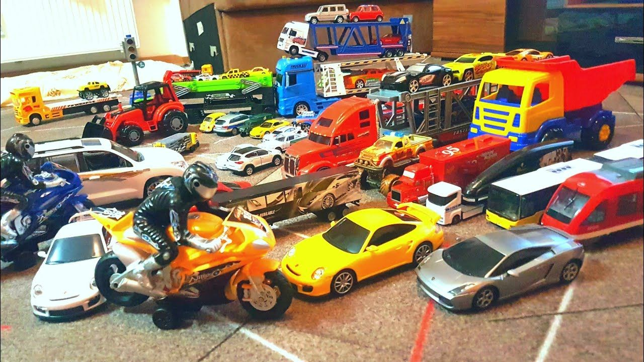 toy cars and trucks. Cars And Trucks Playing With Toy Toddler\u0027s