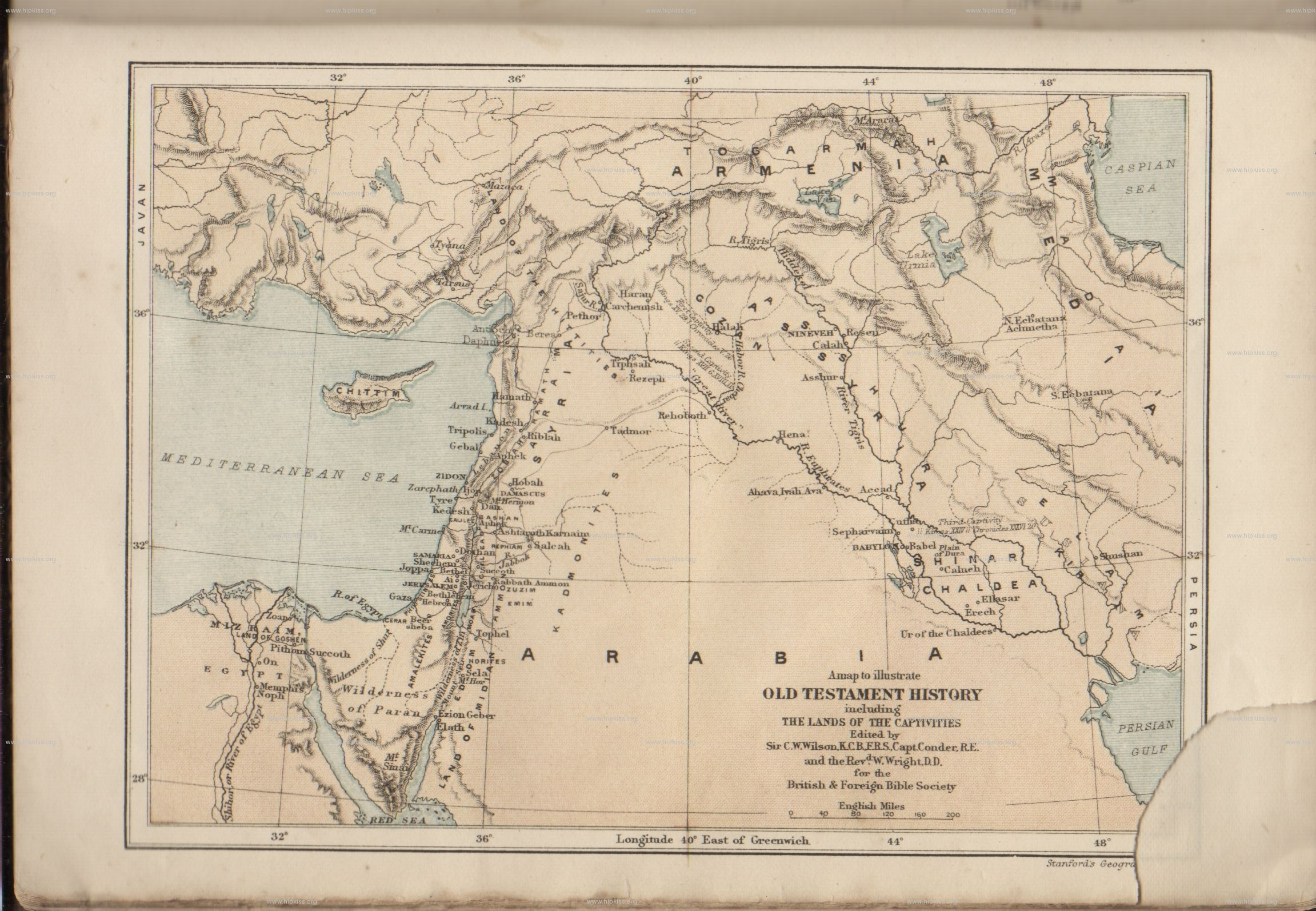 Old Testament Maps Of The Bible