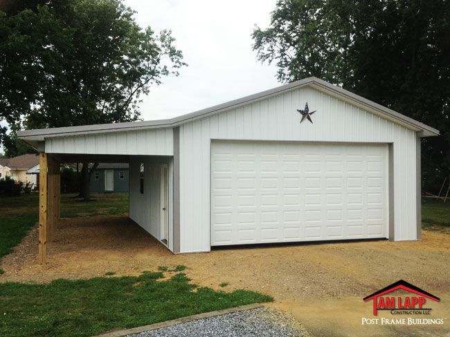 24′W x 32′L x 10′H Residential Polebarn Building in Glassboro, New ...