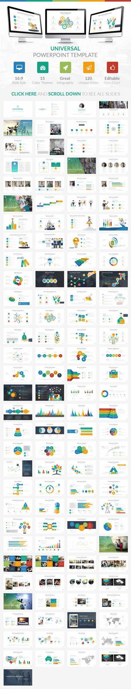 Free Multipurpose Presentation Template I Love This Its For Everyon