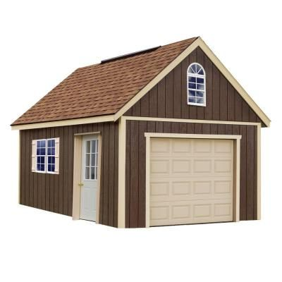 Best Barns Glenwood 12 Ft X 24 Ft Wood Garage Kit Without Floor Glenwood 1224 The Home Depot Wood Garage Kits Wood Shed Kits Storage Shed Kits