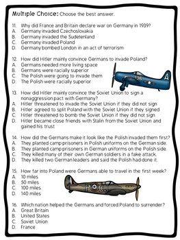 World War II (2) Invasion of Poland Reading Comprehension ...