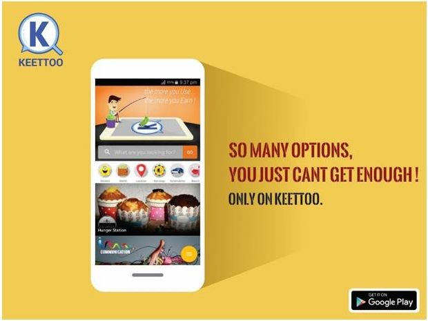 Like us to Know more!vKEETTOO App Keyboard Search