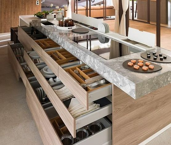 Hidden Kitchen Design Effective And Functional Contemporary Kitchen Designs  Kitchen