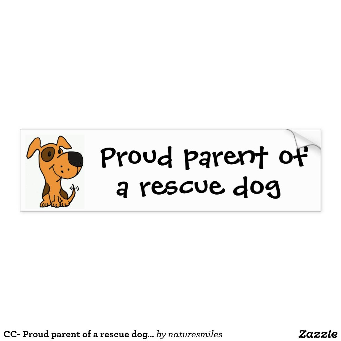 Cc Proud Parent Of A Rescue Dog Bumper Sticker