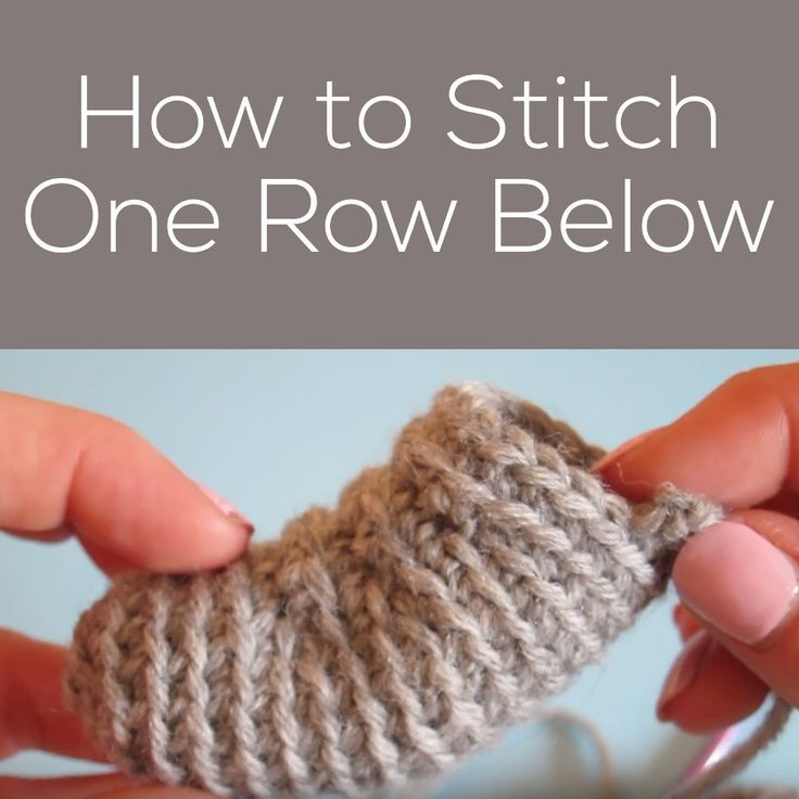 How to single crochet in the front loop one row below