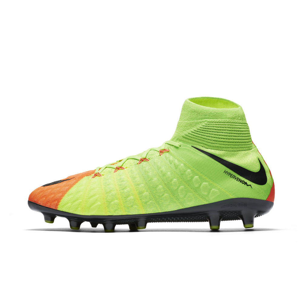 d7e1b5019663 Nike Hypervenom Phantom 3 DF AG-PRO Artificial-Grass Soccer Cleats Size 13  (Green) - Clearance Sale