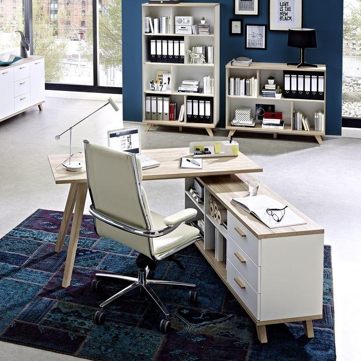bureau d 39 angle gauche ou droit scandinave avec rangements malmo pinterest bureau bureau. Black Bedroom Furniture Sets. Home Design Ideas