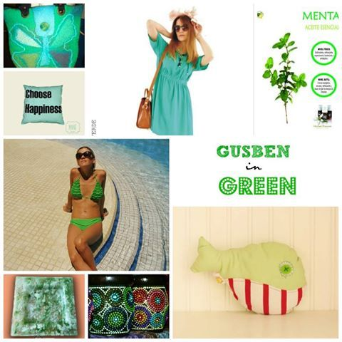 Gusben en verde, bikini, mates, bolsos, indumentaria, juguetes