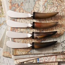 Two's Company Aspen Horn Spreaders Set of Four, $35  hostess gift?