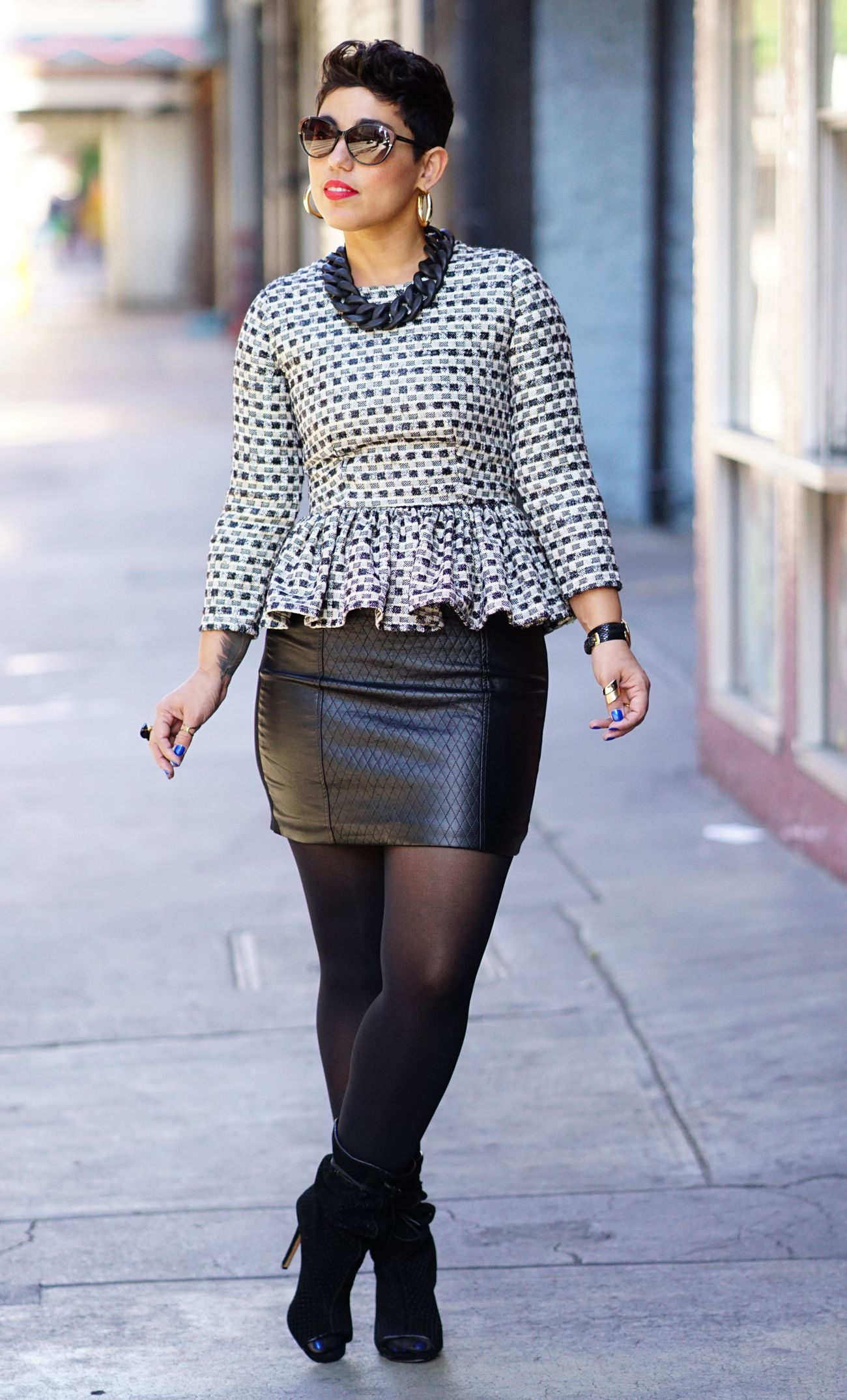 DIY PEPLUM TOP + LEATHER SKIRT   Fashion, Clothes, Style