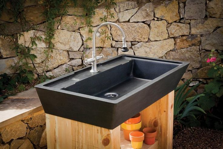 Image Result For Outside Wash Basin Stone Sink Kitchen Outdoor Sinks Kitchen Marble