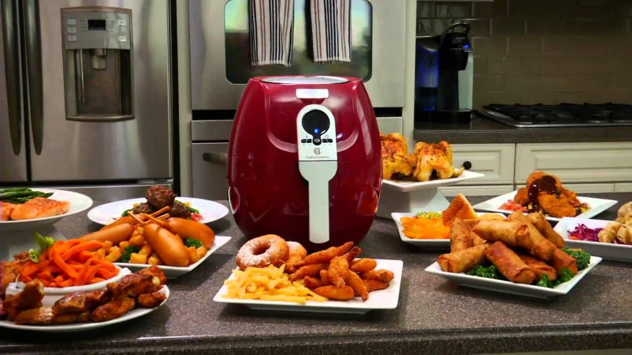 Cooks essentials 3 qt 1400 watt air fryer with recipe book on qvc food forumfinder Gallery