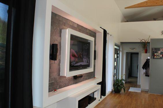 564 376 maison pinterest meuble tv platre et montage. Black Bedroom Furniture Sets. Home Design Ideas