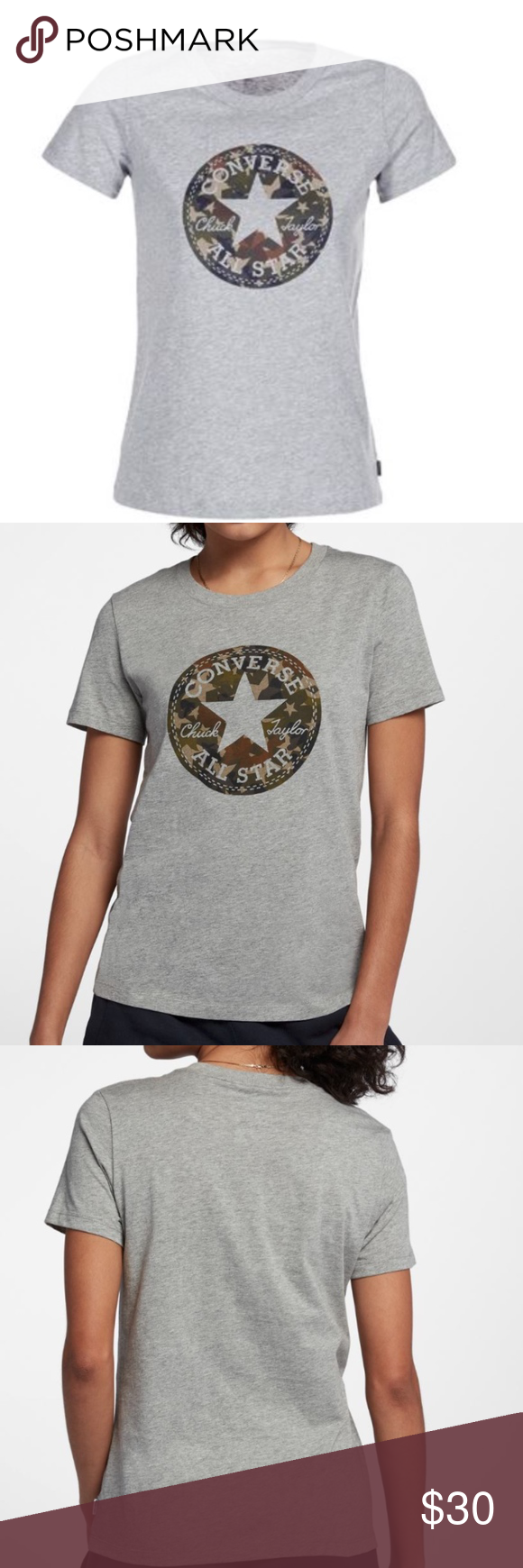 6d612054bd9e NWT Camo Converse Chuck All Star Patch T-Shirt - Brand new - Camouflage  Camo Chuck Patch - 100% cotton Converse Tops Tees - Short Sleeve