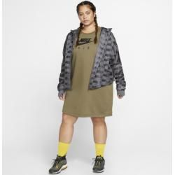 Photo of Nike Large Size – Air Fleece Dress for Women – Olive Nike