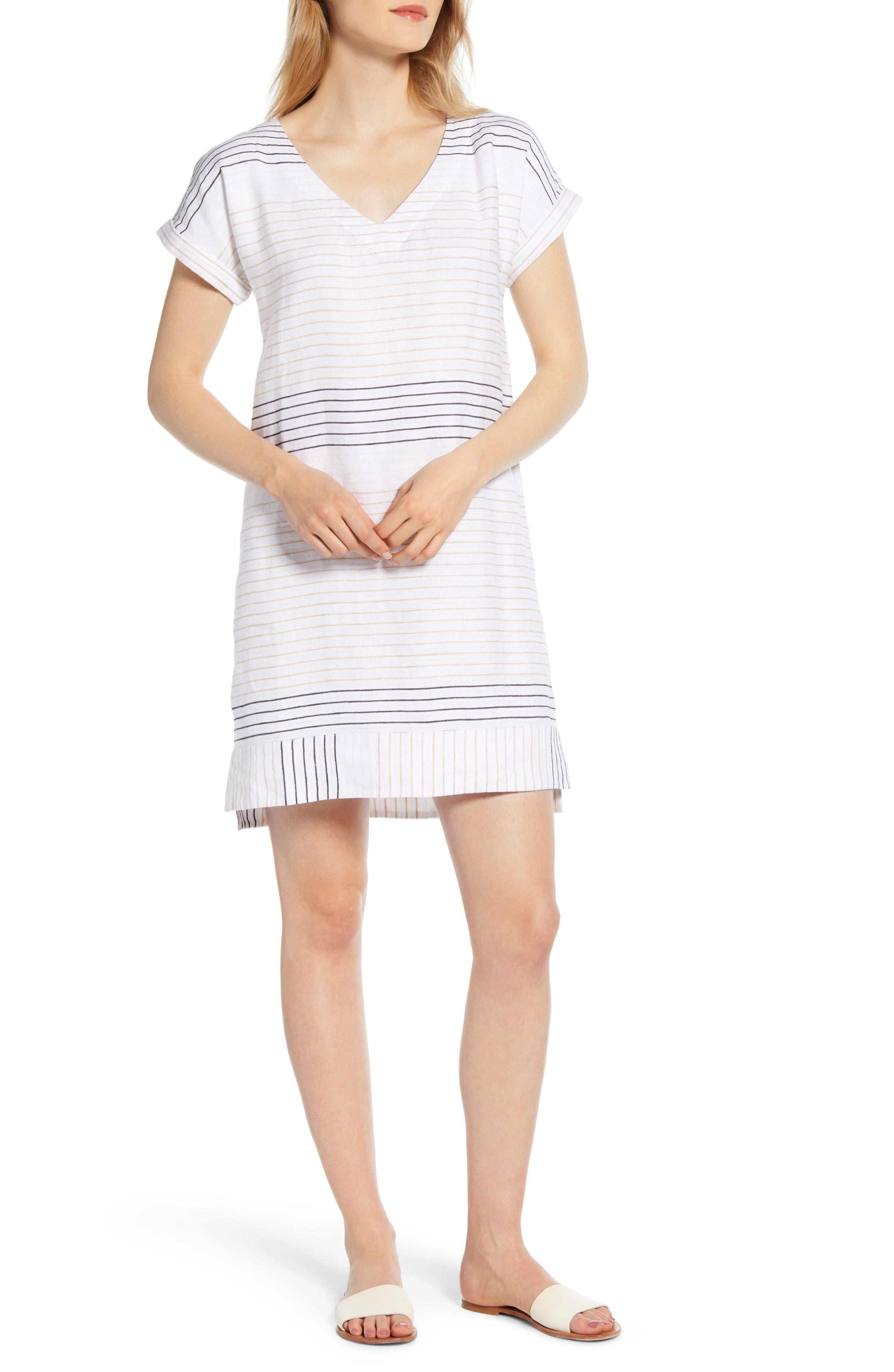 Vineyard Vines Metallic Stripe Shift Dress Nordstrom Striped Shift Dress Shift Dress Nordstrom Dresses [ 4048 x 2640 Pixel ]
