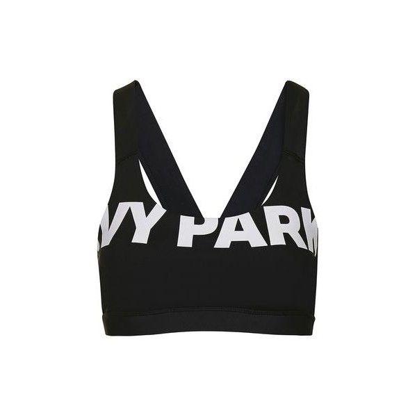 e33fb1354e4 V-Back Mesh Insert Bra by Ivy Park ( 27) ❤ liked on Polyvore · Sports Crop  TopsBlack ...