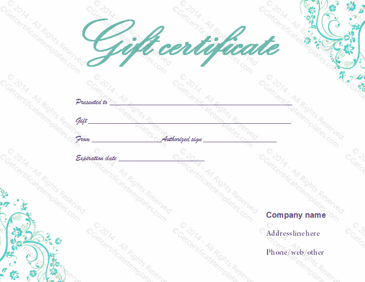 Gift certificate template beautiful printable gift certificate gift certificate template yadclub Image collections