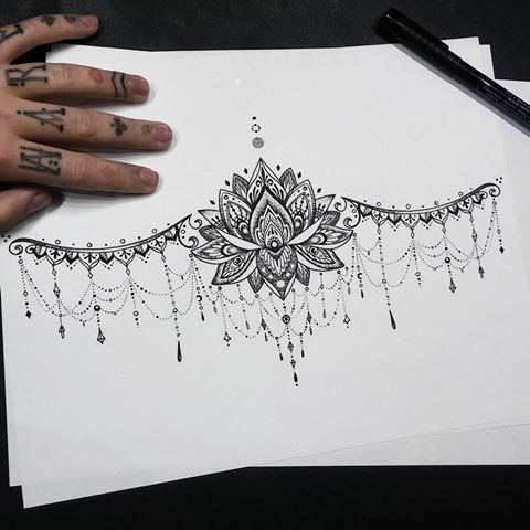 Photo of Image shared by Underboob Sternum Tattoo… #bonebone #by #divided #t… Tattoos #besttattoo – diy best tattoo images