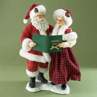 Mr And Mrs Claus Dollhouse Christmas Christmas Figurines Santa Claus Doll