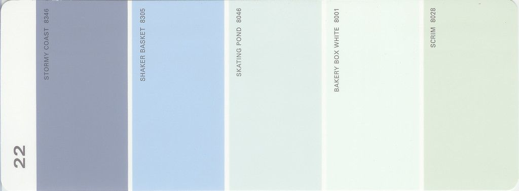 Martha Stewart Paint 5 Color Palette Card #22