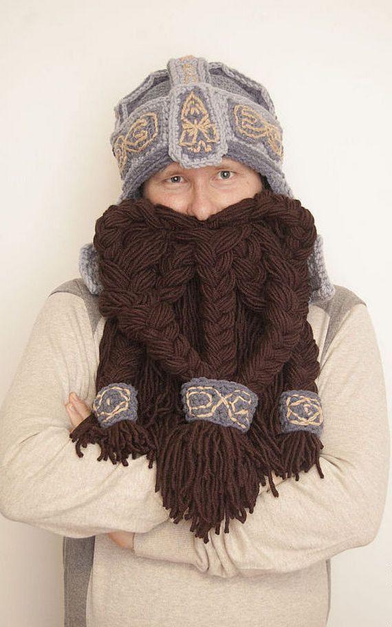 Gimli Dwarf crochet helmet boyfriend gift handmade dwarf hat