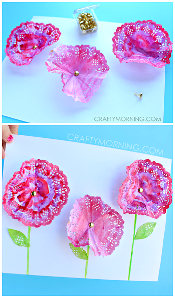 3d doily flowers spring craft for kids craftymorning fun 3d doily flowers spring craft for kids craftymorning mightylinksfo