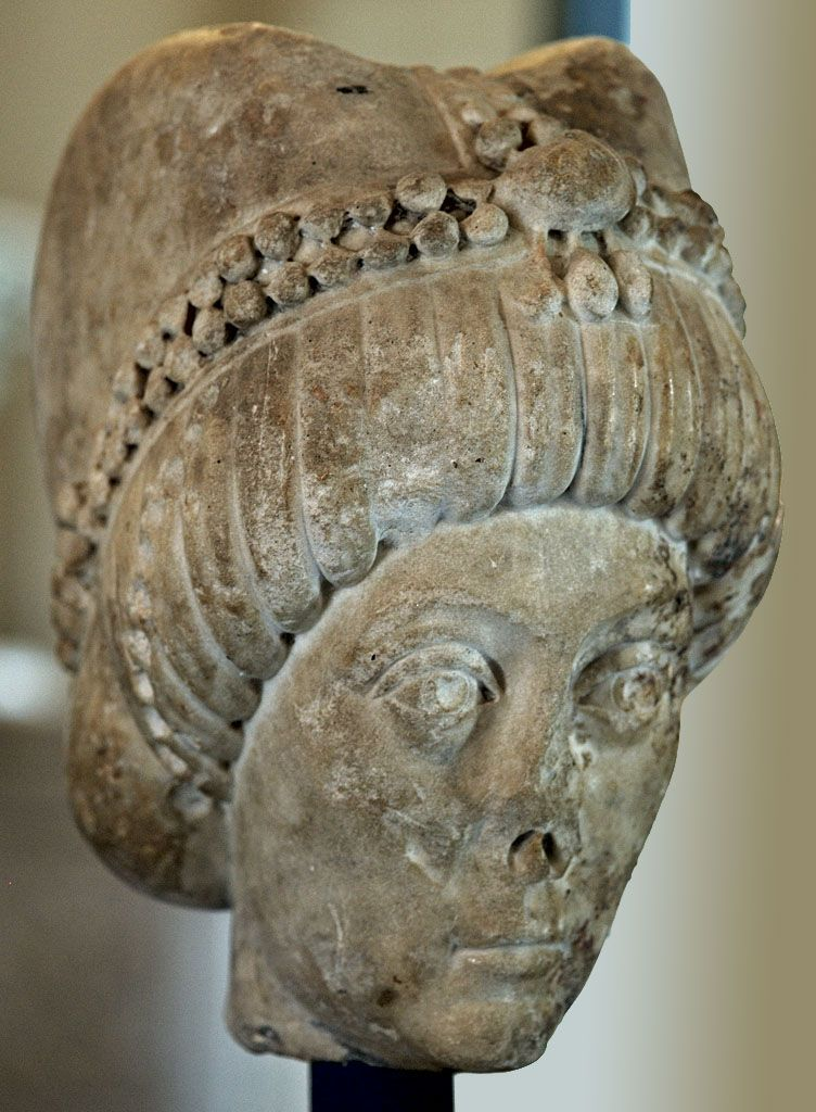 Portrait bust of a Byzantine empress, possibly Theodora ,6th century A.D.