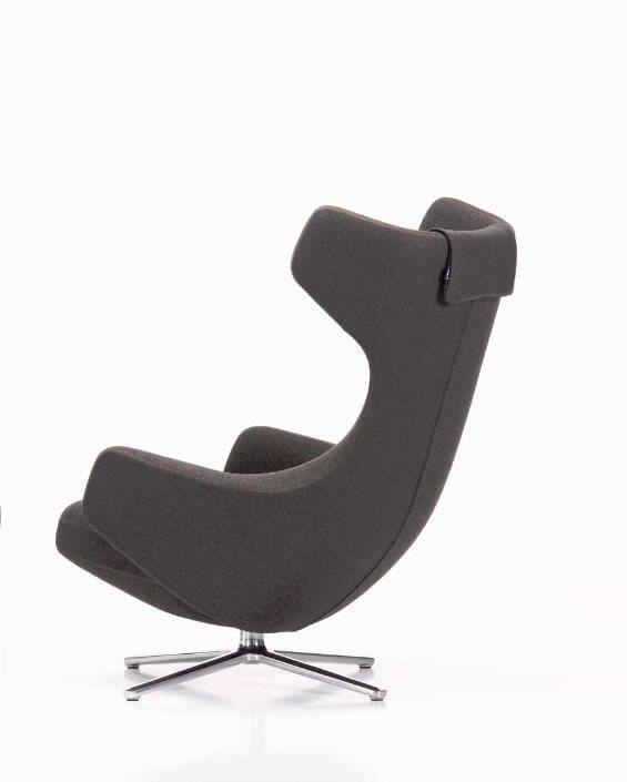 Poltrona Grand Repos Vitra.Contemporary Armchair Leather Wing By Antonio Citterio