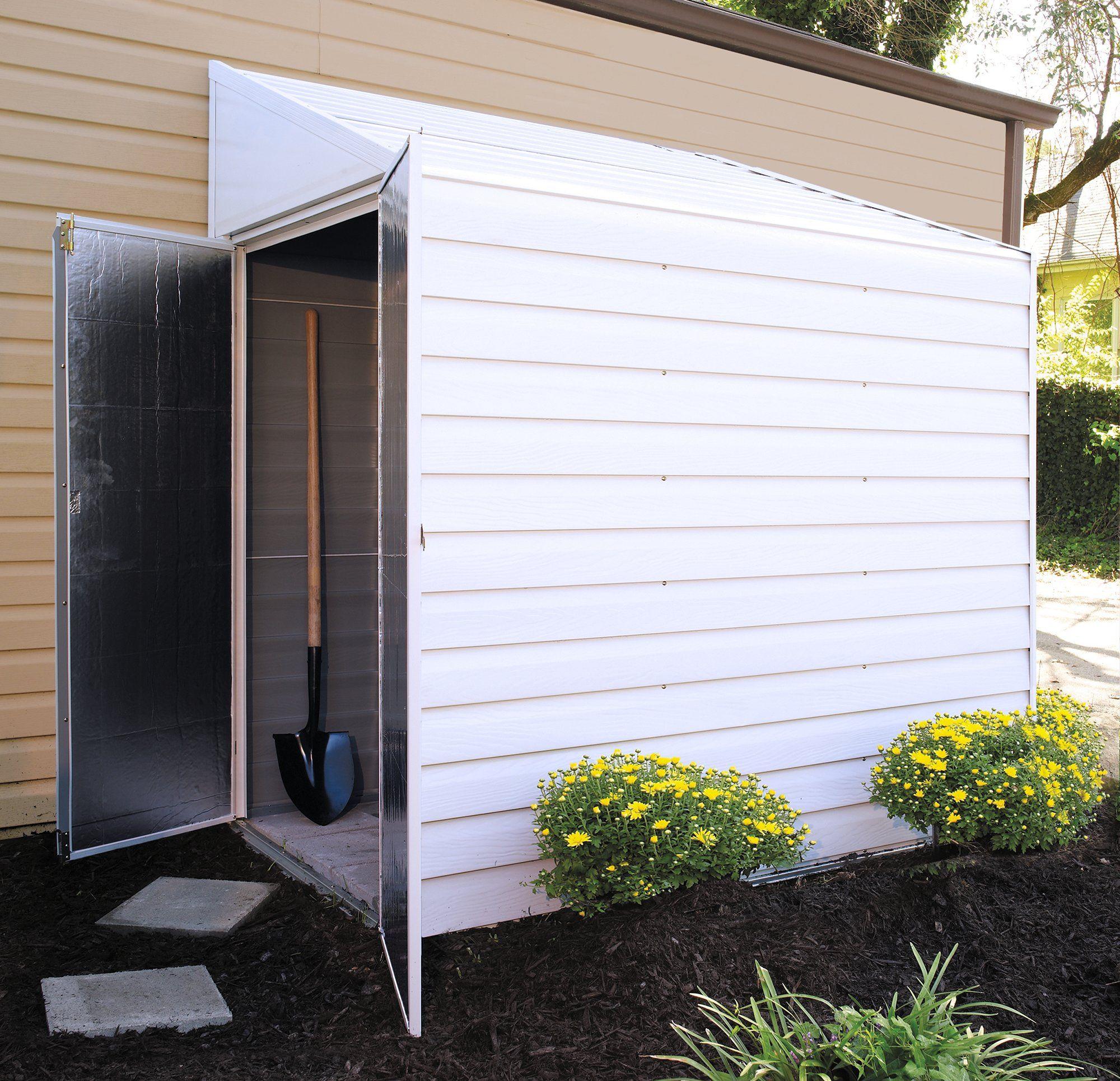 D Metal Lean To Storage Shed Yardsaver 4